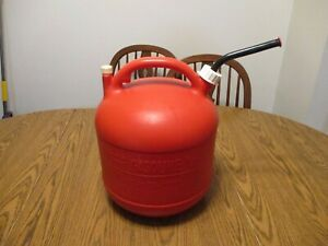 Vintage Eagle 5 Gal Gallon Vented Gas Can Plastic With Vent And Cap Gas Jug Pg 5