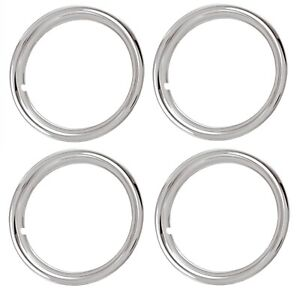 16 Chrome Plated Stainless Steel Beauty Rings Trim Ring Set Of 4