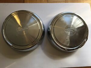 Vintage Set Of 2 Ford Dog Dish Hubcaps Free Shipping In Usa