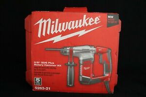 Milwaukee 5 8in Sds Rotary Hammer Corded 5 5 Amp Model 5263 21