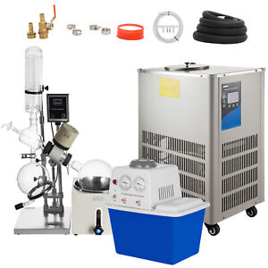 5l Rotary Evaporator Complete Turnkey Package W water Vacuum Pump Chiller