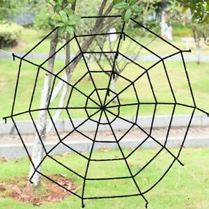 5Ft Giant Spider Web Spooky Haunted House Halloween Party Decor Outdoor US