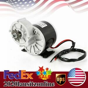 350w Dc Electric Motor 24v 300rpm Gear Reduction Bicycle Bike Scooter 2 Poles