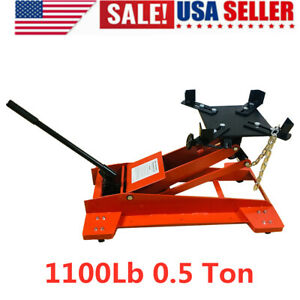 1100lb 0 5 Ton Low Profile Transmission Hydraulic Jack Auto Shop Repair Low Lift