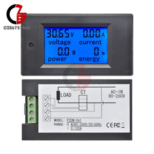 Dc 0 100a Lcd Combo Meter Voltage Current Watt Car Battery Pannel Power Monitor