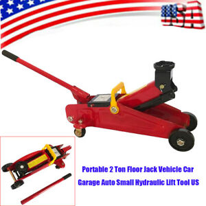 Portable 2 Ton Floor Jack Vehicle Car Garage Auto Small Hydraulic Lift Tool Us