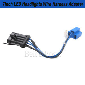 1x7inch Led Headlight Wire Harness Wiring Connector Socket Adapter For Harley Us