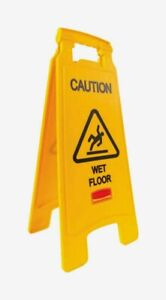 Rubbermaid English Yellow Caution Wet Floor Easel Sign 26 H X 11 W 611277yel