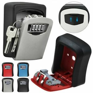 Outdoor High Security Wall Mounted Key Safe Box Waterproof Cover Home Car Keys