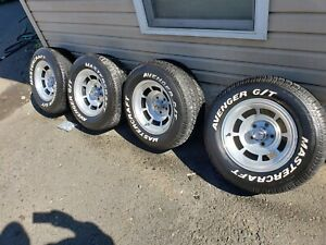 1982 Corvette C3 N90 Aluminum Wheels Rims With 255 60 R15 Tires Set 4