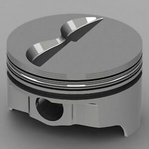 Icon Forged Piston Set Fits Chevy 327 Rod 6 000 Flat Top 4 9cc 2v
