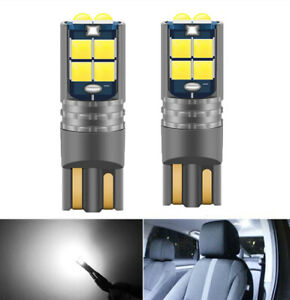 2x T10 W5w 194 168 3030 10smd Canbus Error Free Led Interior Map Side Light