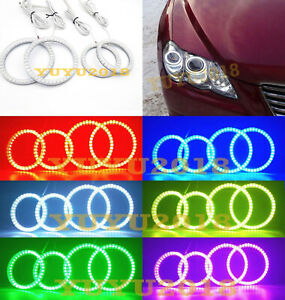 Rf Rgb Led Halo Rings For Toyota Mark X Reiz 2004 2009 Headlight Angel Eyes Drl