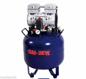 Brand New One Driving Two 32l Noiseless Oilless Dental Air Compressor