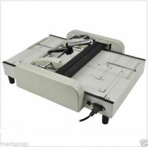 A3 Booklet Making Machine Paper Bookbinding And Folding Booklet Stapling 220v