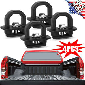 4x Tie Down Anchor Truck Bed Side Wall Anchors For Chevy Silverado Gmc Sierra Us