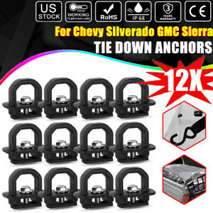 12x Tie Down Anchor Truck Bed Side Wall Anchors For Chevy Silverado Gmc Sierra