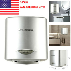 1000w Electric Hand Dryer Compact Touchless Air Hand Hygiene For Home Bathroom