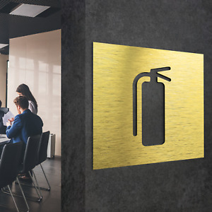 Aluminium Fire Extinguisher Wall Sign Safety Mounting Bracket Sticker Decal