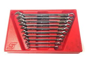 Used Snap On 10 Pc Sae Flank Dr Plus Wrench Set 5 16 7 8 Soex10 Soex28 Soex710