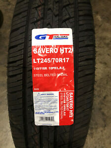 4 New Lt 245 70 17 Gt Radial Savero Ht2 Lre 10 Ply Tires