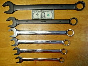 Huge Snap On 6 Piece 12 Point Wrench Lot See Description Pics