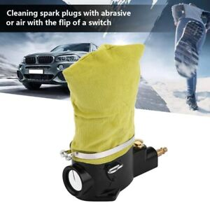 Car Pneumatic Air Spark Plug Cleaner Remove Carbon Tool With Abrasive