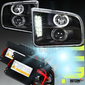 Hid Conversion Kit For 2005 2008 Ford Mustang Black Halo Projector Headlight