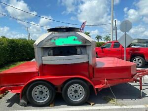 Lightly Used 2015 8 1 X 12 2 Wood fired Pizza Trailer For Sale In Florida