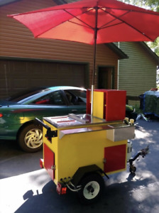 2018 2 5 X 3 Hot Dog Cart Turnkey Ready Street Food Concession Cart For Sale