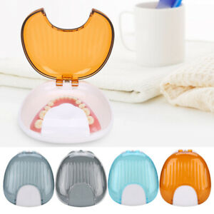 Dental Retainer Storage Orthodontic Denture Box Mouthguard Case Container Co