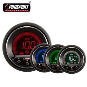 Oil Pressure Gauge With Sender Prosport Premium Evo Digital Warning Peak 2 1 16