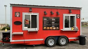 Fully Licensed 2018 7 5 X 16 Used Mobile Kitchen Food Concession Trailer For