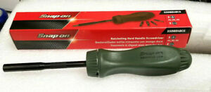 New Snap On Ratcheting Screwdriver Combat Green Hard Plastic Ssdmr4 Black Shank