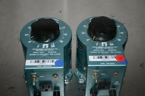 Statco Energy Products Variable Autotransformer Lot Of 2