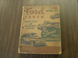 Oem Ford 1948 1954 Truck Pickup Master Parts Book Chassis Catalog 1949 1950 1951
