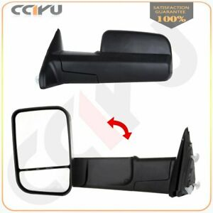 Manual Towing Side View Mirrors For 10 Dodge Ram 11 15 Ram 1500 2500 3500 Pair