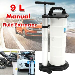 9l Fluid Evacuator Manual Oil Changer Vacuum Hand Operated Extractor Pump Tank