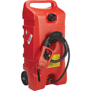 Scepter 06792 Flo N go Duramax Portable Wheeled Fuel Container Red 14 gallon
