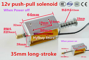 35mm Long stroke Push pull Solenoid Dc12v Small Electro Magnetic Electric Magnet
