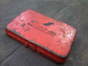 Vintage Snap On Kra 255 Red Metal Tool Box Only For 1 4 Sockets Ratchets 1960