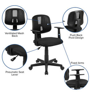 Mesh Back Swivel Home Office Desk Task Computer Chair With Arms 3 Colors