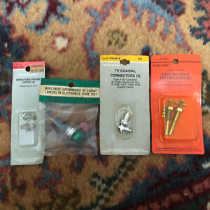 Vintage Archer Radio Shack Tandy Electronic Components Lamp Phone Parts Nos Lot