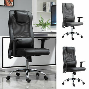 Vinsetto Mesh Office Chair W Rechargeable Vibration Massage Pillow Wheel