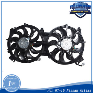 Radiator Cooling Fan Electric For Nissan Altima 2 5l 3 5l 07 16 Maxima 3 5l 2016