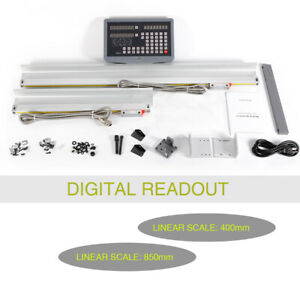 High Precision Dro Digital Readout 2 Axis Linear Scale For Milling Lathe Machine