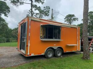 2018 8 5 X 18 Food Concession Trailer Mobile Kitchen With Bathroom For Sal