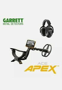 Garrett Apex Metal Detector With Ms 3 Headphones