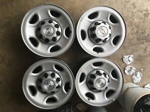 Chevy Gmc 16 Wheels And Caps 8 Lug For Chevrolet Truck Or Van
