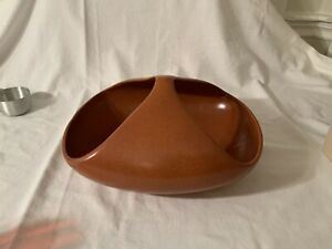 "Roseville Raymor Fruit Bowl Basket 14"" X 11"" EXC Ben Seibel"